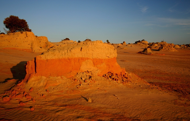 Sunset over Lake Mungo
